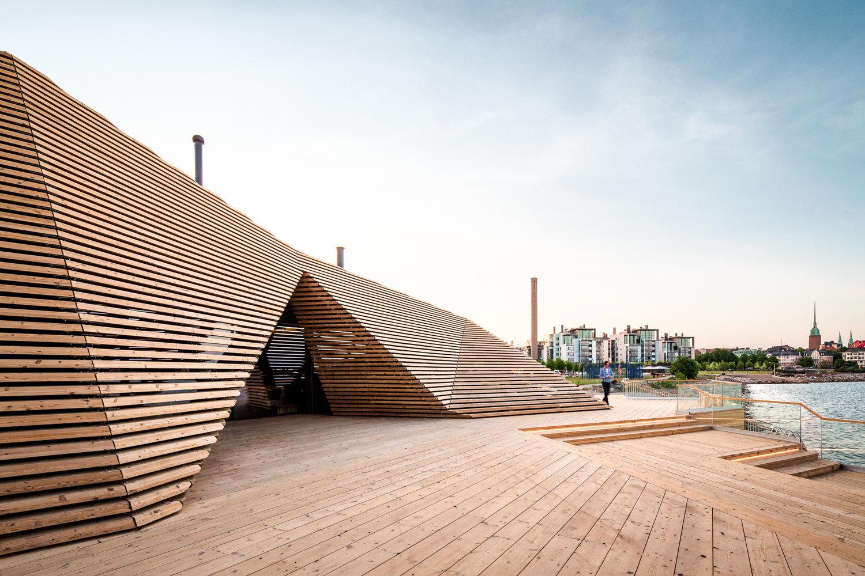 Terraza Sauna Helsinki Avanto architects