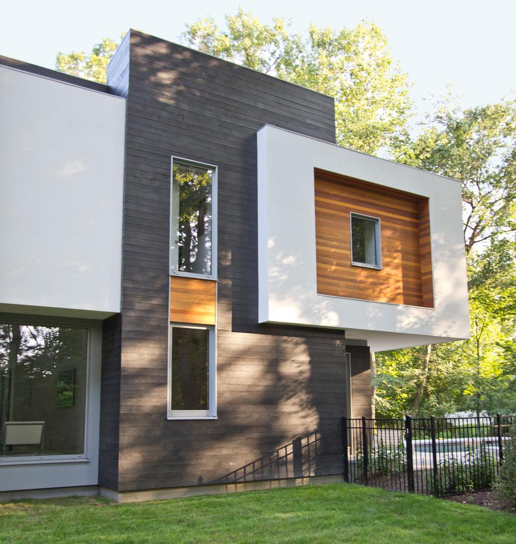 Diferentes tratamiento de fachada en la Residencia Blue Coat Lane